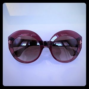 Tom Ford Rachel Brown Round Sunglasses FT0533